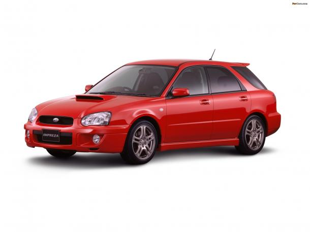 EVA коврики на Subaru Impreza II (правый руль) 2000 - 2007